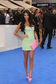 Georgia Salpa was head-to-toe pretty pink and mint at the 'Men in Black 3' London premiere.