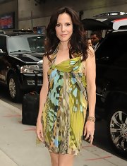 Mary-Louise Parker made an appearance on the 'Late Show with David Letterman' in an adorable print dress.