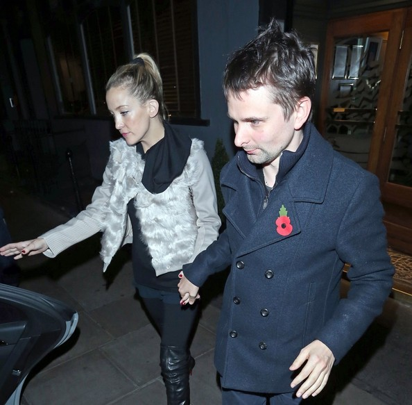 Kate Hudson and Matt Bellamy Leave the Groucho Club