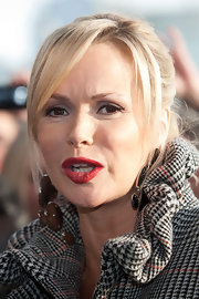 Amanda Holden looked glamorous in brink red lipstick at 'Britain's Got Talent' auditions in Glasgow.