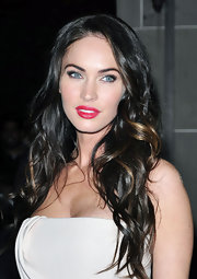 Megan Fox looked ravishing in red lipstick. The bright lip choice popped against her porcelain skin.