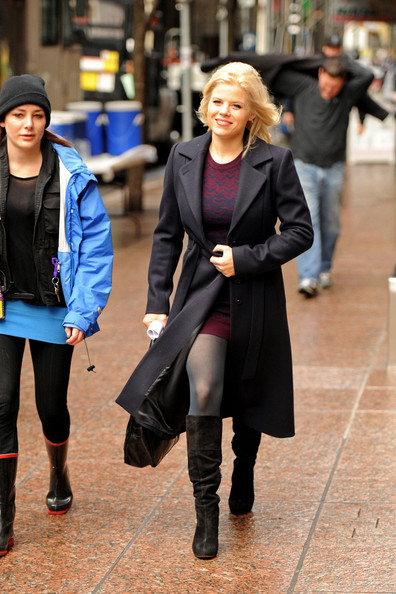 Megan Hilty Knee High Boots