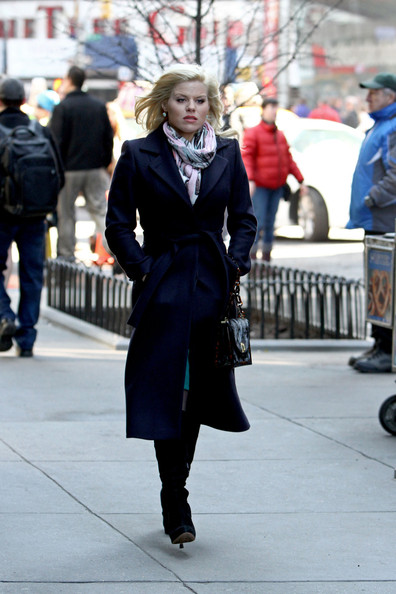 More Pics of Megan Hilty Wool Coat (1 of 9) - Megan Hilty Lookbook - StyleBistro