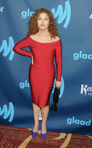 Bernadette Peters' red bandage dress complemented her signature red locks.