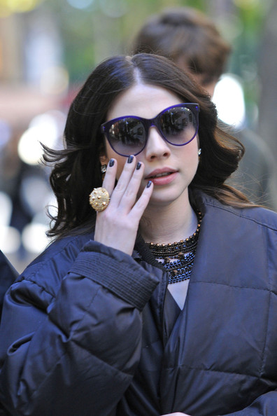 Michelle Trachtenberg Oversized Sunglasses