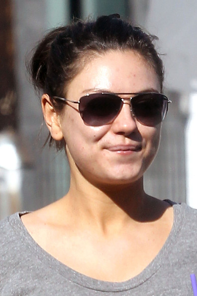 Mila Kunis Aviator Sunglasses