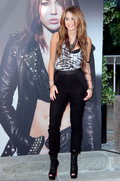 Miley Cyrus Lace Up Boots