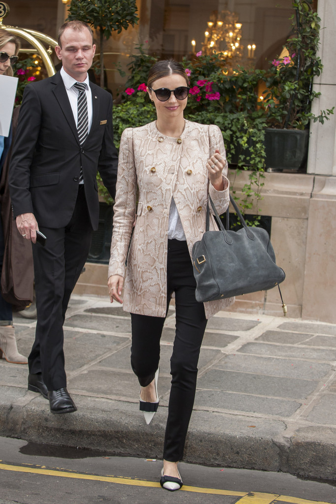 Miranda Kerr Goes Shopping in Paris