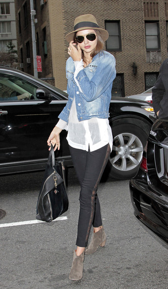 Miranda Kerr Denim Jacket October 2017