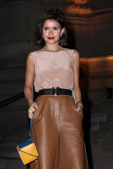 Miroslava Duma Leather Wristlet