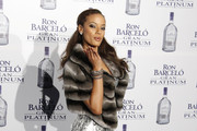 Former Victoria Secret model Selita Ebanks attends the Ron Barcelo Gran Platinum party at Reina Sofia Museum in Madrid. Selita has attracted recent media attention by starring in Kanye West's 34-minute music video,