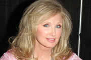 Morgan Fairchild Medium Wavy Cut with Bangs