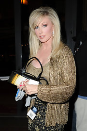 Morgan Fairchild was a super stylish head turner in her gold chainmail jacket at the premiere of 'The Perfect Game.'