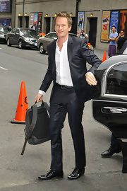 Neil Patrick Harris looked dapper in this dark charcoal suit.