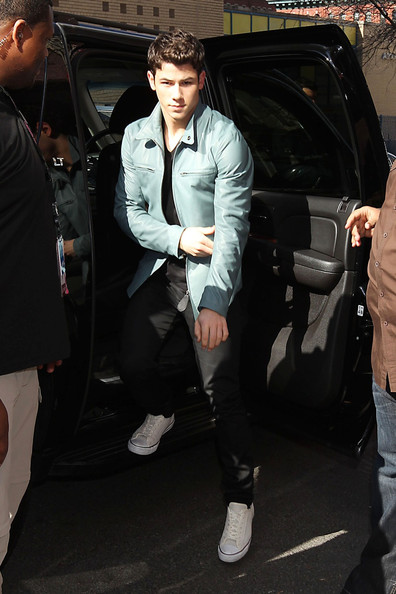 More Pics of Nick Jonas Leather Jacket (2 of 5) - Nick Jonas Lookbook - StyleBistro