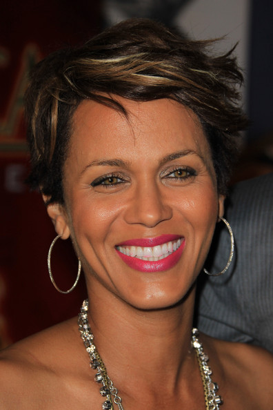 Nicole Ari Parker looked cool and edgy with her layered razor cut at the Pan African Film Festival.