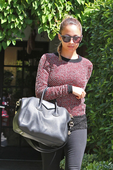 Nicole Richie Leather Bowler Bag []
