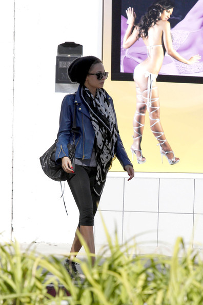 More Pics of Nicole Richie Leather Jacket (2 of 8) - Nicole Richie Lookbook - StyleBistro