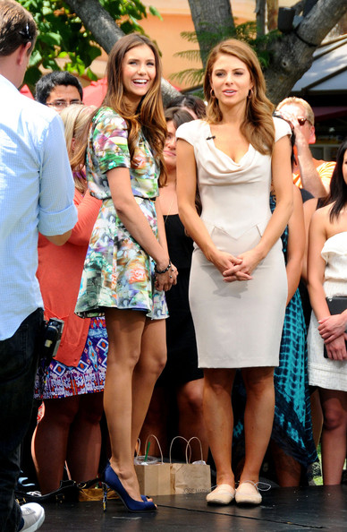 Nina Dobrev Peep Toe Pumps
