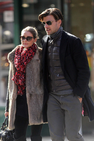 Olivia Palermo Patterned Scarf