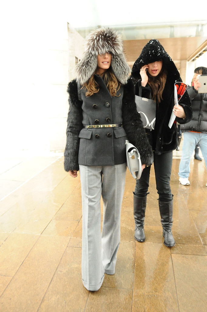 Olivia Palermo Wears a Funky Hat to Fashion Week