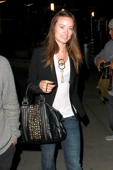 More Pics of Olivia Wilde Studded Tote (1 of 5) - Olivia Wilde Lookbook - StyleBistro