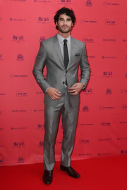 Darren Criss looked sleek as ever in this silver two-button, notch-lapel suit.
