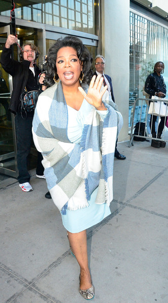 Oprah Winfrey was comfy in a pair of snakeskin ballet flats as she arrived at the CBS Studios.
