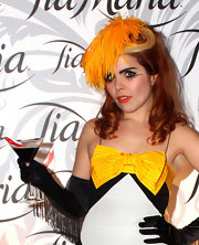 Paloma Faith wore lots of fun, feathery liquid liner to enhance her eyes at the Tia Maria Masquerade Ball in London