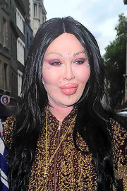 Former Dead or Alive singer Pete Burns has his eyebrows completely pierced, in addition to other facial piercings. Ouch!