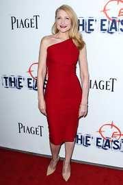 Patricia Clarkson stunned in a one-shoulder red dress at the premiere of 'The East.'