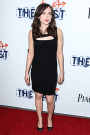 Ellen Page rocked a simple and chic LBD that featured a cutout detail on the bust.