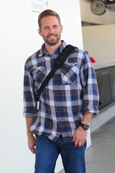 Paul Walker Button Down Shirt - Paul Walker Looks - StyleBistro