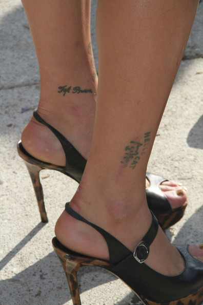 Peaches Geldof Lettering Tattoo