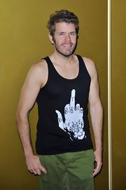 Perez Hilton was cheeky at the 'Magic Mike' premiere in a statement-making tank top.