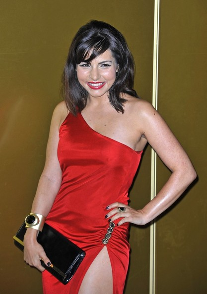 More Pics of Roxanne Pallett One Shoulder Dress (1 of 3) - Roxanne Pallett Lookbook - StyleBistro