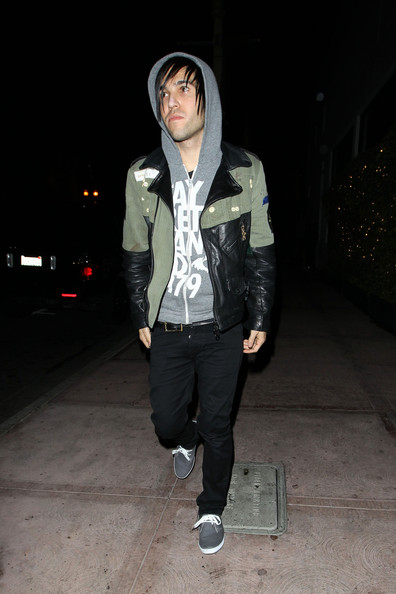 More Pics of Pete Wentz Leather Jacket (1 of 8) - Pete Wentz Lookbook - StyleBistro