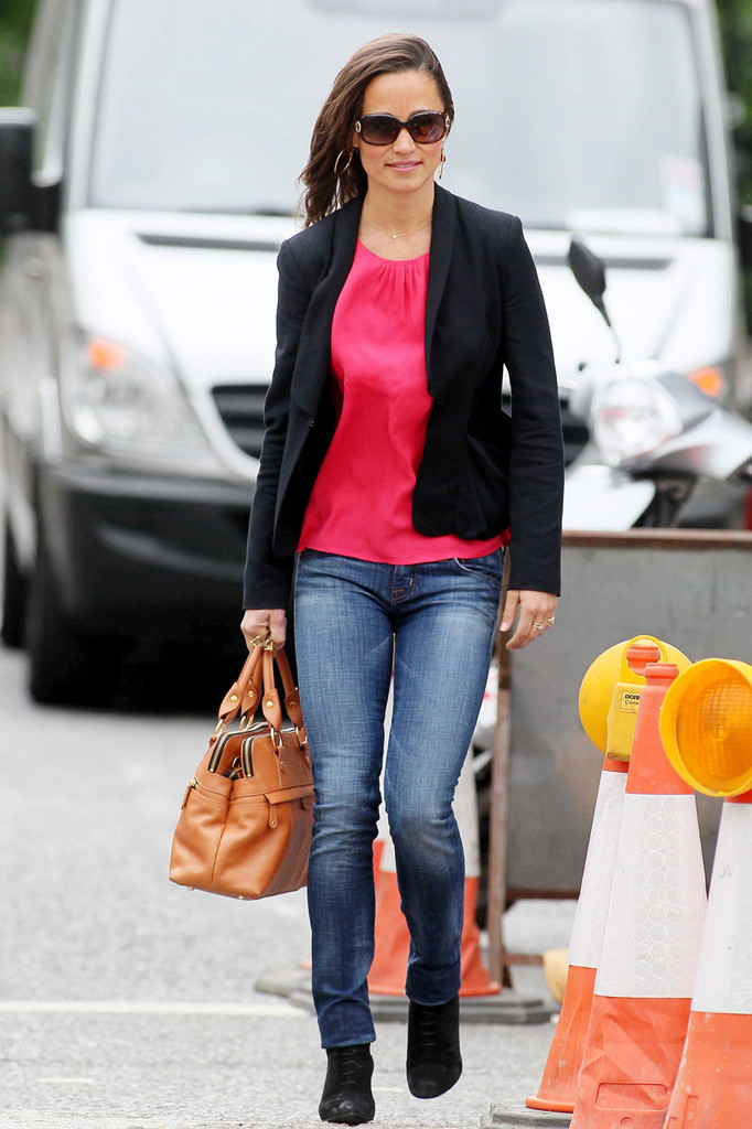 Pippa Middleton Was Spotted In London Carrying Her Tan Leather Namesake Bag
