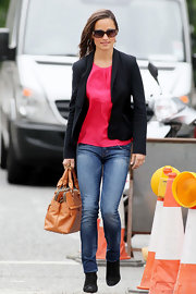 Pippa Middleton was spotted in London carrying her tan leather namesake bag.