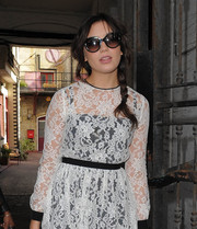 Daisy Lowe headed to the Christopher Kane Spring 2014 show wearing a pair of butterfly sunnies.