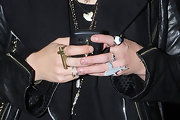 Pixie showed off her funky style with a grey shark ring while hitting up the London nightclubs.