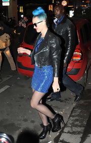 Katy Perry stepped out in Paris wearing a pair of black leather ankle boots.