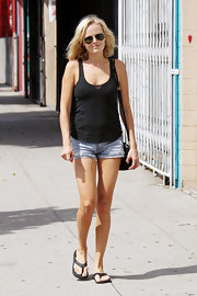 Malin Akerman looked totally laid-back in black flip flops for an afternoon of shopping.