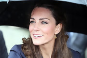 Kate Middleton always looks classically chic. The bride-to-be completed her look with coal rimmed eyes and a light coat of mascara.