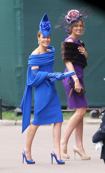 Tara+Palmer-Tomkinson in Arrivals at the Royal Wedding 2