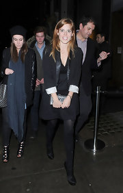 Princess Beatrice looked sophisticated at Nobu in a black blazer with cuffed sleeves.