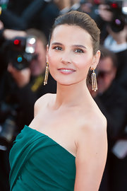 Virginie Ledoyen completed her look for the opening ceremony of the Cannes Film Festival with a pair of diamond chandelier earrings set in titanium.