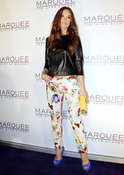 Minka Kelly showed off her style at the grand opening of the Marquee Nightclub in Sydney in a pair of periwinkle peep toe pumps.