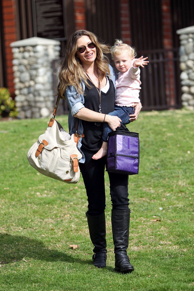 Rebecca Gayheart canvas messenger bag