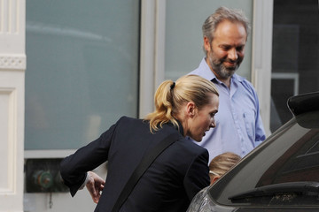Kate Winslet Sam Mendes Kate Winslet and Sam Mendes Walk the Kids to School 2